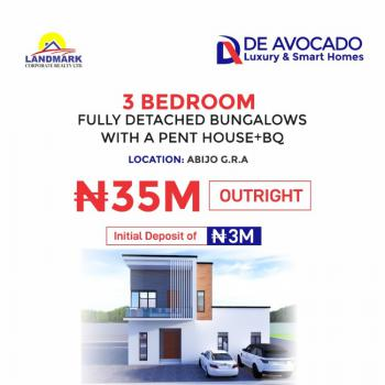 3 Bedroom Fully Detached Bungalows with Penthouse+bq., Abijoh Gra, Abijo, Lekki, Lagos, Flat for Sale
