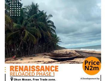 Ocean Front Land, Around La Campagne Tropicana Beach Resort, Lekki Free Trade Zone, Lekki, Lagos, Residential Land for Sale