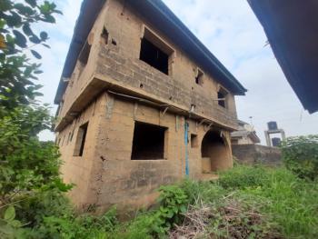 Well Located 4 Bedroom Duplex with 2 Unit of 2 Bedroom Flat ( Carcass), Iju-ishaga, Agege, Lagos, Detached Duplex for Sale