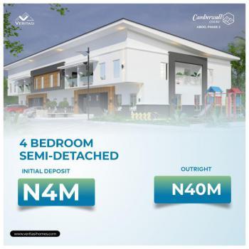 4 Bedroom Semi Detached Duplex with Bq, Camberwall Courts 2, 4 Minutes From Shoprite, Abijo, Lekki, Lagos, Semi-detached Duplex for Sale