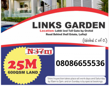 Estate Land with Gazette and C of O, Orchid Road By 2nd Toll Gate Chevron, Lekki Phase 2, Lekki, Lagos, Residential Land for Sale