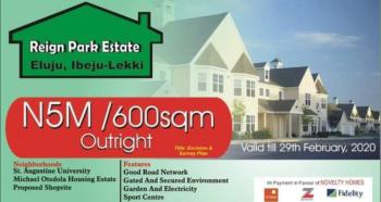 Affordable Govt. Approved Land in Serene Environment, Reign Park Estate, Eluju, Ibeju Lekki, Lagos, Residential Land for Sale