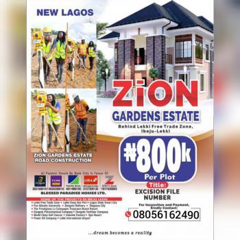 Land, Zion Gardens Estate, Lekki Free Trade Zone, Ibeju Lekki, Lagos, Residential Land for Sale