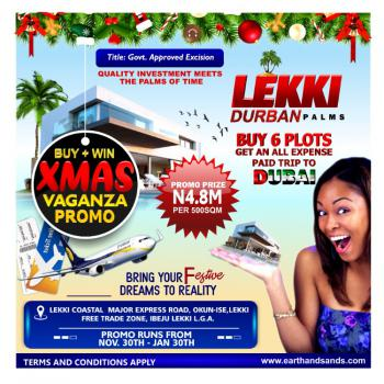 Land, Lekki Durban Palms Directly Facing The Lekki Coastal 8lanes Major Express Road, Okun- Ise, Lekki Free Trade Zone, Lekki, Lagos, Mixed-use Land for Sale