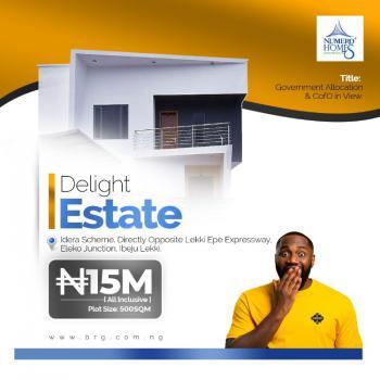 Prime Estate Land in a Very Good Location, Eleko, Ibeju Lekki, Lagos, Residential Land for Sale