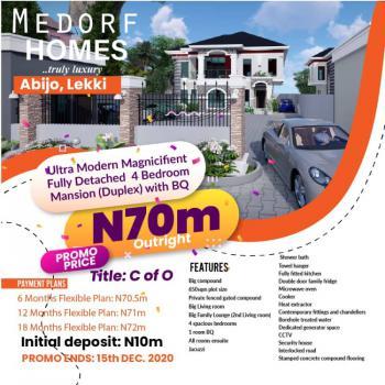 Fully Detached 4 Bedroom Duplex + Bq on 650sqm Plot, Abijo, Lekki, Lagos, Detached Duplex for Sale