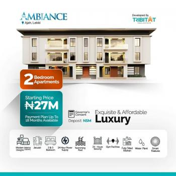 Luxury Top Notch 2 Bedroom Apartment, Atlantic Layout Estate, Lekki Gardens Phase 4 Road  @ The Ambiance, Ajiwe, Ajah, Lagos, Terraced Bungalow for Sale