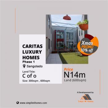 Land, Caritas Luxury Homes, Sangotedo, Ajah, Lagos, Residential Land for Sale