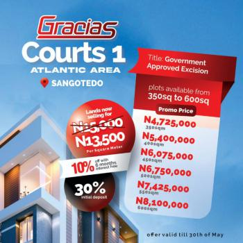 3 Plots of Land. Serviced, Novare Mall, Sangotedo, Ajah, Lagos, Residential Land for Sale