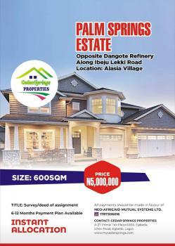 a 600sqm Land, Alasia Village, Along Ibeju Lekki Road, Palm Springs Estate, Ibeju Lekki, Lagos, Residential Land for Sale