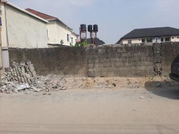 Fenced Half Plot of Land Facing Interlocking Road, Lbs Before Sangotedo, Sangotedo, Ajah, Lagos, Residential Land for Sale