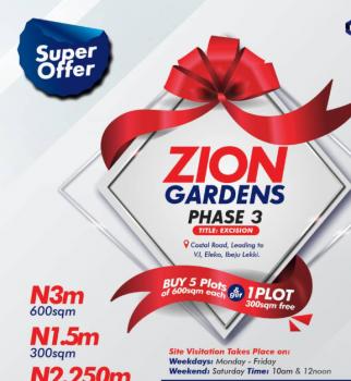 Super Offer!!! Buy 5 and Get 1 Free, Coastal Road Leading to V.i, Eleko, Ibeju Lekki, Lagos, Land for Sale