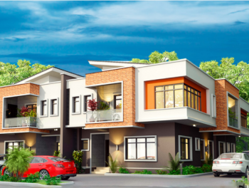 Beautiful 3 Bedroom Terrace, Paradise Estate, Life Camp, Abuja, Terraced Duplex for Sale