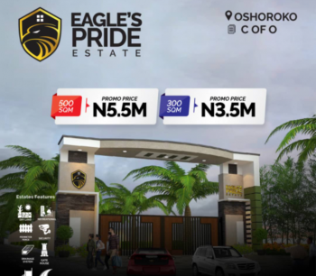 Cheapest Government Approved C of O Land in a Good Location, Eagles Pride Estate, Osoroko, Ibeju Lekki, Lagos, Residential Land for Sale