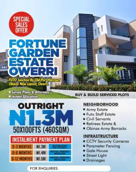 Land with Survey Plan and Attorney Instant Allocation, Fortune Gardens Estate Futo Junction By Old Port Harcourt, Obinze, Owerri Municipal, Imo, Residential Land for Sale