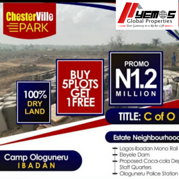 Land, Chester Ville Park, Ologuneru, Ibadan, Oyo, Residential Land for Sale