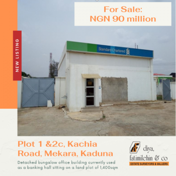 Commercial Office Space, Plot 1 & 2c Kachia Road, Mekara, Kachia, Kaduna, Office Space for Sale