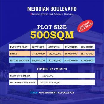 Land, Meridian Boulevard Estate, Okun-ajah, Ajah, Lagos, Residential Land for Sale