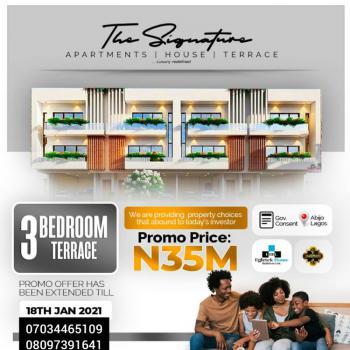 Units of 3 Bedroom Terraces, Abijo, Lekki, Lagos, Terraced Duplex for Sale
