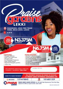 C of O, Praise Gardens Oshokoro, Lekki Free Trade Zone, Lekki, Lagos, Mixed-use Land for Sale