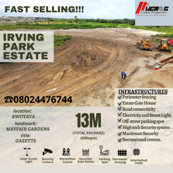 Land, Oribawa Bustop Awoyaya,2 Minutes From Mayfair Gardens, Awoyaya, Ibeju Lekki, Lagos, Residential Land for Sale