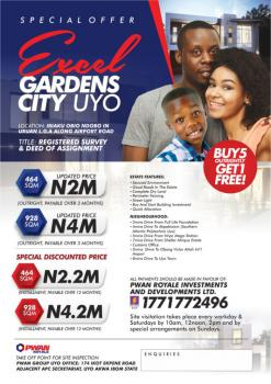 Registered Survey and Deed of Assignment, Excel Gardens City Uyo, Uruan, Akwa Ibom, Mixed-use Land for Sale