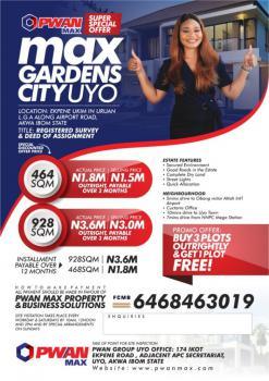 Registered Survey and Deed of Assignment, Max Gardens City Uyo, Ekpene Ukim, Akwa Ibom, Mixed-use Land for Sale