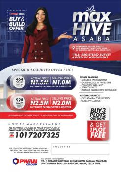Registered Survey and Deed of Assignment, Max Hive, Oshimili North, Delta, Mixed-use Land for Sale