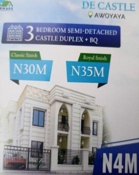 Classic 3 Bedroom Semi Detached Duplex, De Castle Estate, Awoyaya, Ibeju Lekki, Lagos, Detached Duplex for Sale