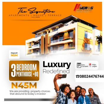 The Signature 3 Bedroom Penthouse, Opposite Corona International School, Ajah, Lagos, Block of Flats for Sale