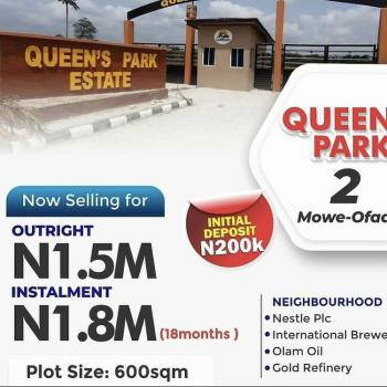 The Most Affordable Land with C of O Surrounded By Reputable Company, Within a Developed and Habitable Environment, Mowe Ofada, Ogun, Residential Land for Sale