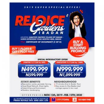 Rejoice Garden a C of O Land Is Selling Very Fast, Moniya, Akinyele, Oyo, Mixed-use Land for Sale