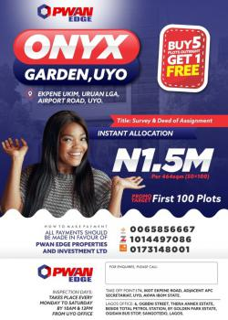 a Property You Should Invest in., Onyx Garden, Uyo, Akwa Ibom, Mixed-use Land for Sale