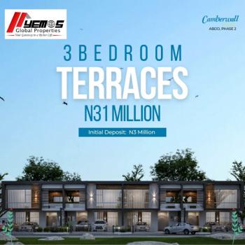 3 Bedroom Terrace + Bq, Inside Abijo Gra,4 Minutes Drive From Navare Mall, Abijo, Lekki, Lagos, Terraced Bungalow for Sale
