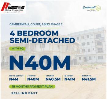 4 Bedroom Semi-detached + Bq, Abijo Gra,4 Minutes Drive From Navare Mall, Abijo, Lekki, Lagos, Semi-detached Bungalow for Sale