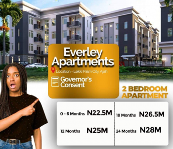 Most Affordable 2 Bedroom Luxury Flats in Serene Location, Beverley Apartments,lekki Palm City Estate, Ajah, Lagos, Block of Flats for Sale