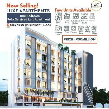 Luxe Apartments: 1 Bedroom Loft Apartments, Fola Osibo, Lekki Phase 1, Lekki, Lagos, Block of Flats for Sale