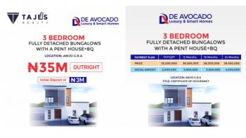 Smart 3 Bedroom Fully Detached Bungalow with Penthouse, Gra, Abijo, Lekki, Lagos, Detached Bungalow for Sale