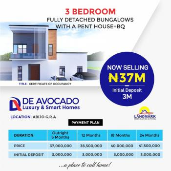 Luxury Fully Detached 3 Bedrooms Bungalow with Bq & Penthouse, Abijo Gra, Lekki, Lagos, Detached Bungalow for Sale