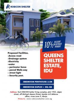 4 Bedroom Duplex Land, Queens Shelter Estate, Idu Industrial, Abuja, Residential Land for Sale