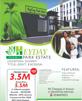 Strategically Located Land with a Government Approved Excision! Secure, Beechwood Estate, Shapati, Ibeju Lekki, Lagos, Land for Sale