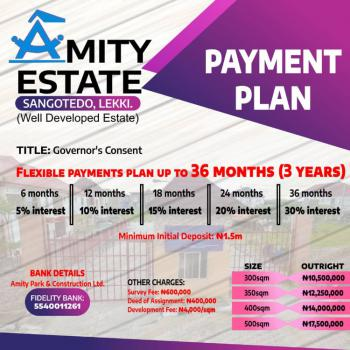 Residential Land with C of O, Amity Estate in a Built Up Area, Sangotedo, Ajah, Lagos, Mixed-use Land for Sale