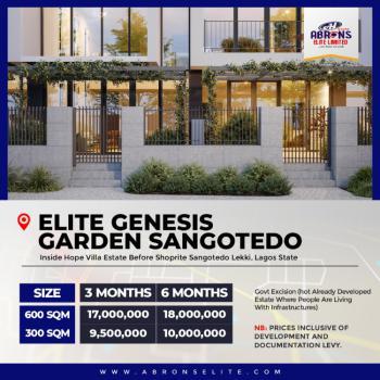 Commercial Land with C of O, Elite Garden Inside Hopeville Estate Off Lekki Epe Expressway, Sangotedo, Ajah, Lagos, Commercial Land for Sale