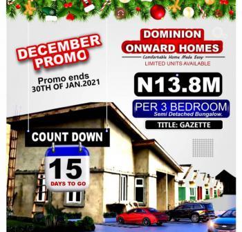 Promo Discounted  3 Bedroom Semi Detached Bungalow, Bashorun Town/ Majek, Lekki-epe Expressway,, Sangotedo, Ajah, Lagos, Semi-detached Bungalow for Sale