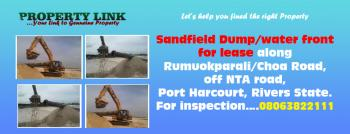 Sand Field Dump/water Front for Lease, Are You Looking for an Opportunity to Be Part of The Ever Lucrative Sand Mining Business? Do You Want to Own a Sanfield/dump? Them Rumuokparali Water Front, Along Rumuokparali/choba Road, Off Nta Road, Is The Right Place, Rumuoparali, Port Harcourt, Rivers, Factory for Rent