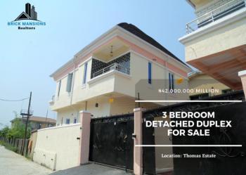 3 Bedroom Detached Duplex, Thomas Estate, Ajah, Lagos, Detached Duplex for Sale