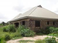 100 X 100 Plot with Unfinished Bungalow, Off Asaba-ibusa Road, Opposite Federal College of Education, Asaba, Delta, Semi-detached Bungalow for Sale