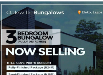 3 Bedroom Bungalow + Bq, Eleko Road, Eleko, Ibeju Lekki, Lagos, House for Sale