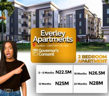 2 Bedroom Apartment in Ajah. 24m Ayment Plan Available!, in Close Proximity to Vgc Waterfront Called Lekki Palm City Estate., Ajah, Lagos, Flat for Sale