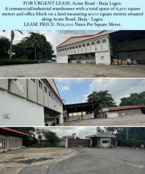 Warehouses Measuring 6,300 Sqm with Office Block, Acme Road, Ogba, Ikeja, Lagos, Warehouse for Rent